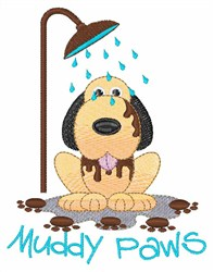 Muddy Paws embroidery design