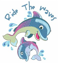 Ride The Waves embroidery design