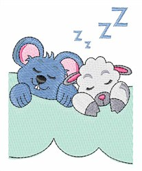Mouse And Sheep embroidery design