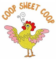 Coop Sweet Coop embroidery design