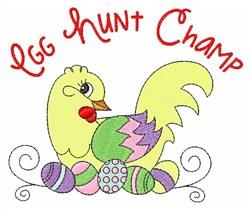 Egg Hunt Champ embroidery design