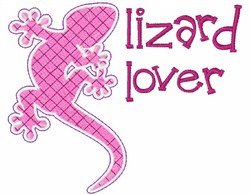 Lizard Lover embroidery design