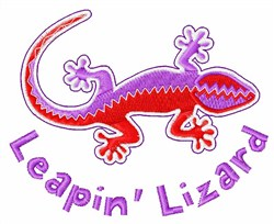 Leapin Lizard embroidery design