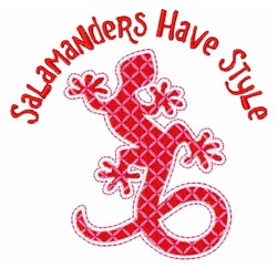 Salamander Style embroidery design
