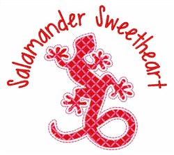 Salamander Sweetheart embroidery design
