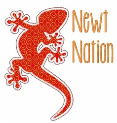 Newt Nation embroidery design