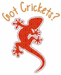 Got Crickets? embroidery design