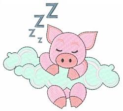 Sleeping Pig embroidery design