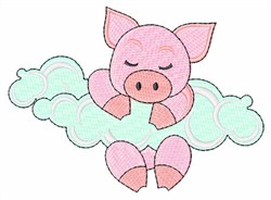 Sleeping Piggy embroidery design