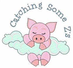 Catching Some Zs embroidery design