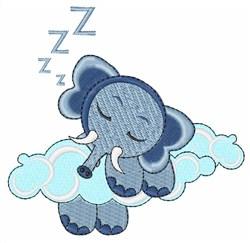 Sleepy Elephant embroidery design