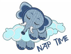 Elephant Nap Time embroidery design