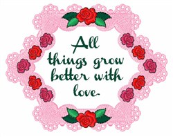 Better With Love embroidery design