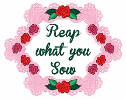 Reap What You Sow embroidery design
