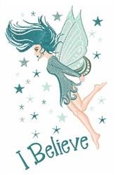 I Believe Fairy embroidery design