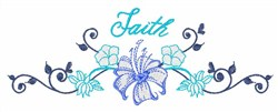 Faith Floral Border embroidery design