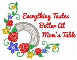 Moms Table embroidery design