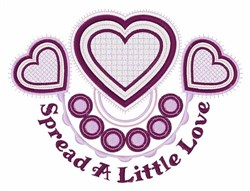 A Little Love embroidery design