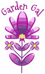 Garden Gal embroidery design