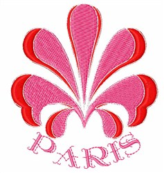 Paris Flower embroidery design