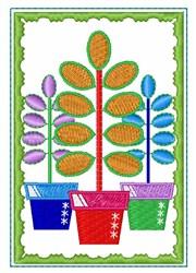 Flower Pots embroidery design