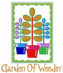 Garden of Weeding embroidery design