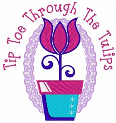 Through the Tulips embroidery design