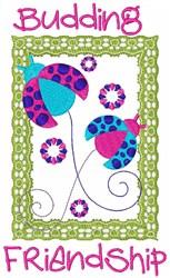 Budding Friendship embroidery design