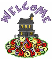 Spooky Welcome embroidery design