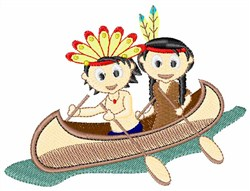 Indians In Canoe embroidery design