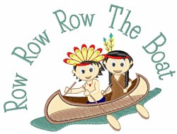 Row the Boat embroidery design