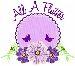 All A Flutter embroidery design