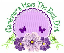 Gardeners Best Dirt embroidery design