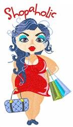 Shopaholic embroidery design