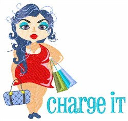 Charge It embroidery design