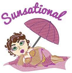 Sunsational embroidery design