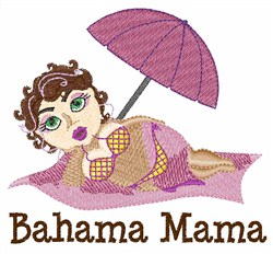 Bahama Mama embroidery design
