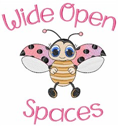 Wide Open Spaces embroidery design