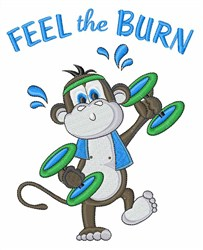 Feel the Burn embroidery design
