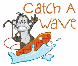 Catch a Wave embroidery design