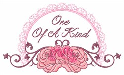 One Of A Kind embroidery design