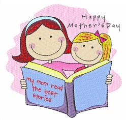 Mother And Daughter embroidery design