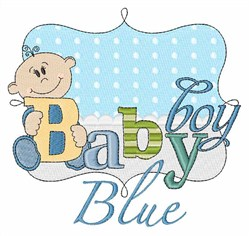 Baby Boy Blue embroidery design