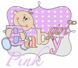 Pink Baby Girl embroidery design