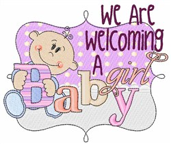 Welcoming a Girl embroidery design