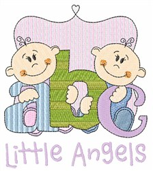 Little Angels embroidery design
