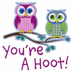 Youre A Hoot embroidery design