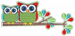 Owls In Tree embroidery design