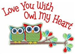 Owl My Heart embroidery design