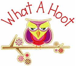 What A Hoot embroidery design